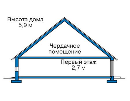 Проект кирпичного дома 41-22 план