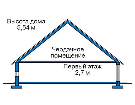 Проект кирпичного дома 41-23 план