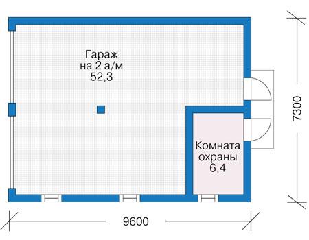Проект кирпичного дома 74-00 план