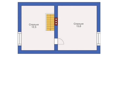 Проект кирпичного дома 72-06 план