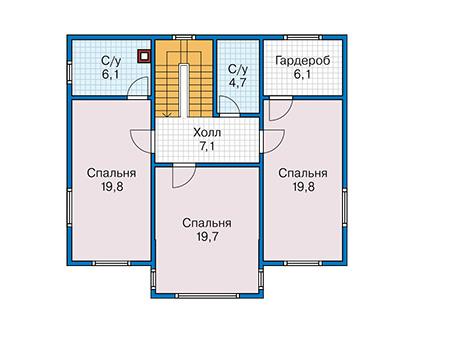Проект каркасного дома 90-17 план