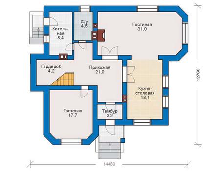 Проект  дома 53-32 план
