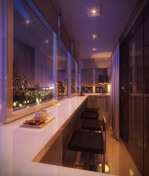 Балкон в  дизайне современного интерьера