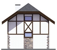 Проект бетонного дома 55-71 фасад
