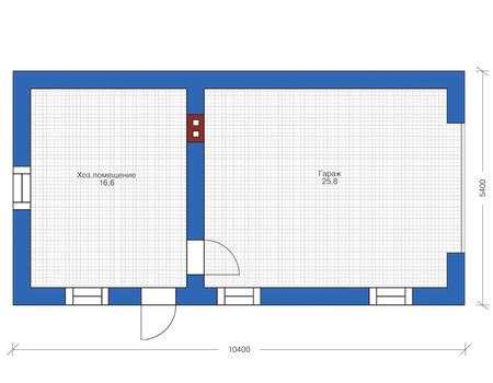 Проект бетонного дома 55-71 план