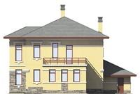 Проект бетонного дома 55-74 фасад