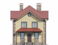 Проект бетонного дома 55-92 фасад
