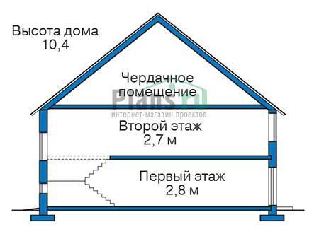Проект бетонного дома 55-92 план
