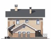 Проект бетонного дома 55-94 фасад
