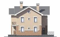 Проект бетонного дома 55-95 фасад