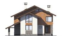 Проект бетонного дома 55-96 фасад