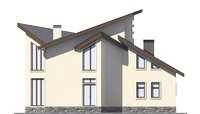 Проект бетонного дома 55-97 фасад