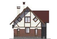 Проект бетонного дома 55-98 фасад