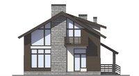 Проект бетонного дома 56-00 фасад