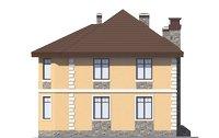 Проект бетонного дома 56-03 фасад