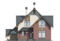 Проект бетонного дома 56-05 фасад