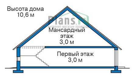 Проект бетонного дома 56-05 план