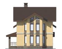 Проект бетонного дома 56-09 фасад