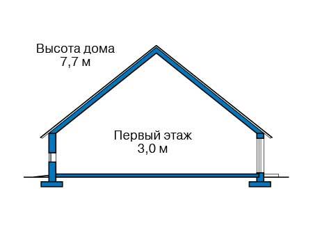 Проект бетонного дома 59-10 план