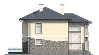 Проект бетонного дома 56-12 фасад
