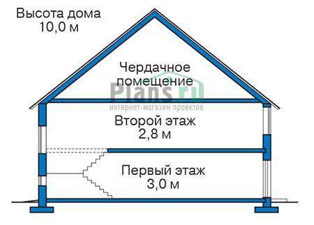 Проект бетонного дома 56-12 план