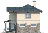 Проект бетонного дома 56-13 фасад