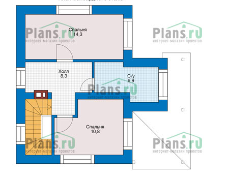 Проект бетонного дома 56-13 план