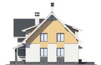 Проект бетонного дома 56-14 фасад