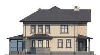 Проект бетонного дома 56-15 фасад