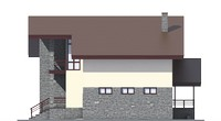 Проект бетонного дома 56-16 фасад