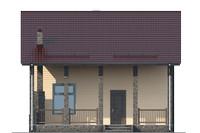 Проект бетонного дома 56-18 фасад