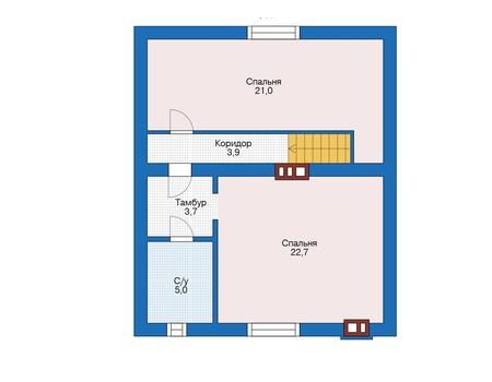 Проект бетонного дома 56-18 план