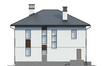 Проект бетонного дома 56-22 фасад