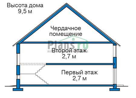 Проект бетонного дома 56-22 план