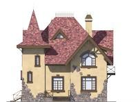 Проект бетонного дома 56-25 фасад