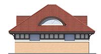 Проект бетонного дома 56-27 фасад