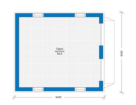 Проект бетонного дома 56-27 план