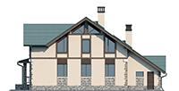 Проект бетонного дома 56-29 фасад