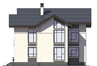 Проект бетонного дома 56-33 фасад
