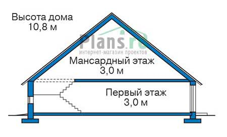 Проект бетонного дома 56-33 план