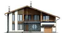 Проект бетонного дома 56-36 фасад