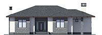 Проект бетонного дома 56-37 фасад
