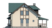 Проект бетонного дома 56-40 фасад