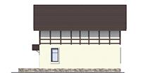 Проект бетонного дома 56-41 фасад
