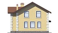 Проект бетонного дома 56-42 фасад