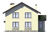 Проект бетонного дома 56-43 фасад