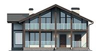 Проект бетонного дома 56-44 фасад