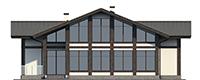 Проект бетонного дома 56-47 фасад