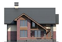 Проект бетонного дома 56-48 фасад