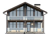 Проект бетонного дома 56-49 фасад